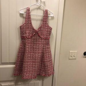 Pink tweed dress